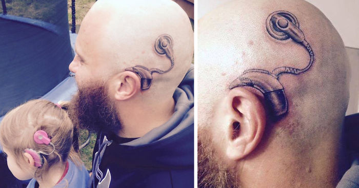 Dad Gets Tattoo So His 6 Year Old Daughter Wouldnt Feel Different