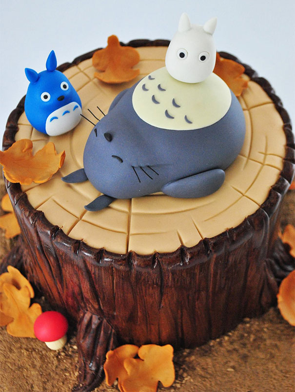 Cake Art Studio Nerul : 10+ Totoro Cakes That Are Too Cute To Eat Bored Panda