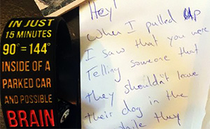 Man Finds A Surprise Note On His Windshield In Austin, Texas
