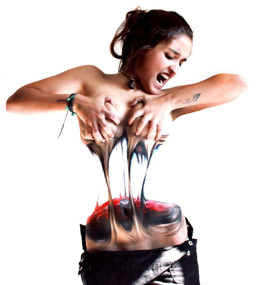Women Tear Themselves Apart In Mind Bending Body Art By Chilean Artist Bored Panda
