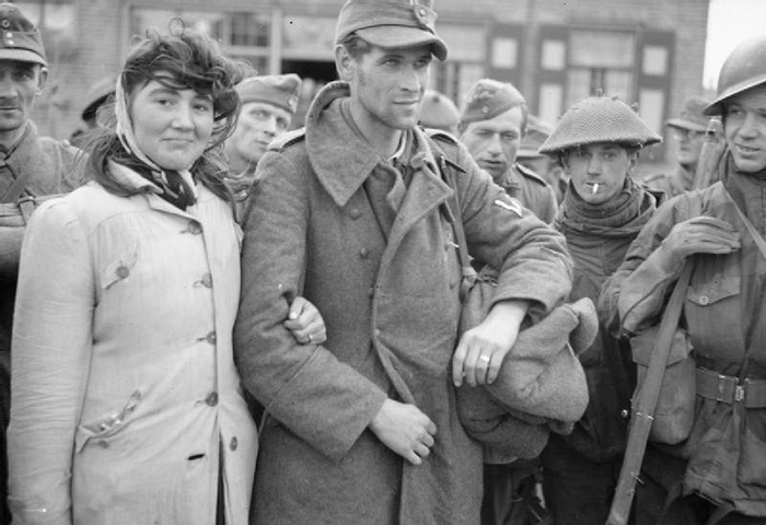 Among The Prisoners Taken On Walcheren Was This Dutch Woman With Her Husband, A German Solder, Whom She Refused To Leave (1944)