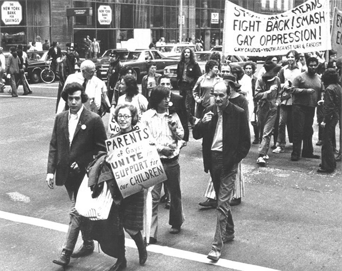 Jeanne Manford With Her Son Morty, Foreground, Marching In The New York City Gay Pride Parade (1972)