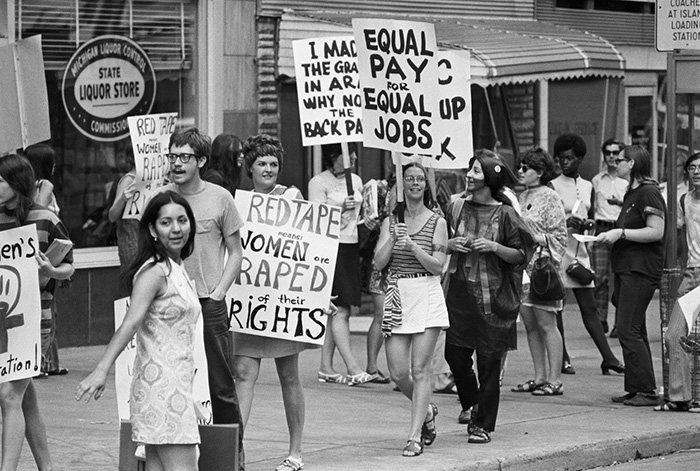 Women's Liberation Coalition Marching For Equal Pay (1970)