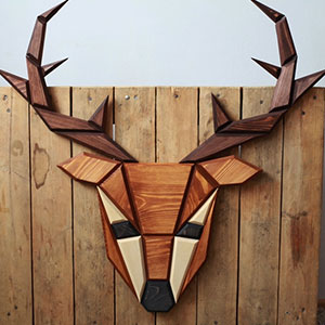 Wooden Zoo: I Make Geometric Animal Heads From Wood