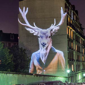 Stylish Animals Take Over The Buildings Of Paris