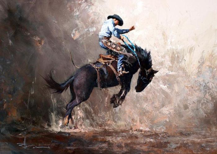Australian Impressionist Robert Hagan.