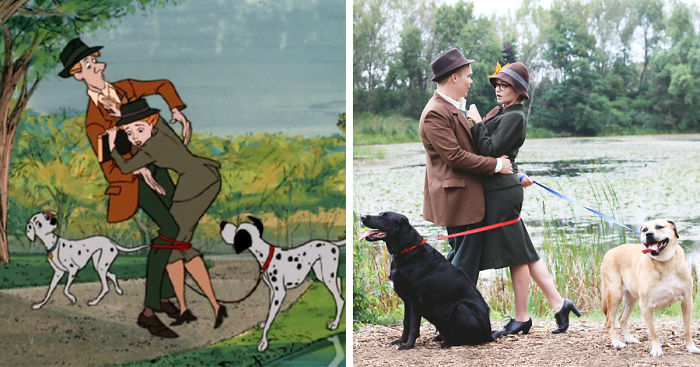 Couple Recreates '101 Dalmatians' Intro For Their Engagement