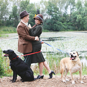 Couple Recreates '101 Dalmatians' Intro For Their Engagement Photoshoot
