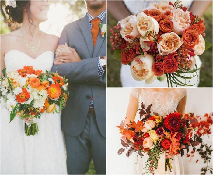 +7 Stunning Autumn Wedding Bouquet Ideas