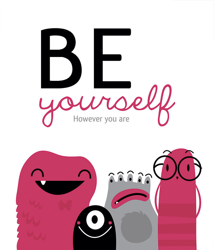 I Make Monster Cards To Remind People About Little Things That Can Make Your Life Happier