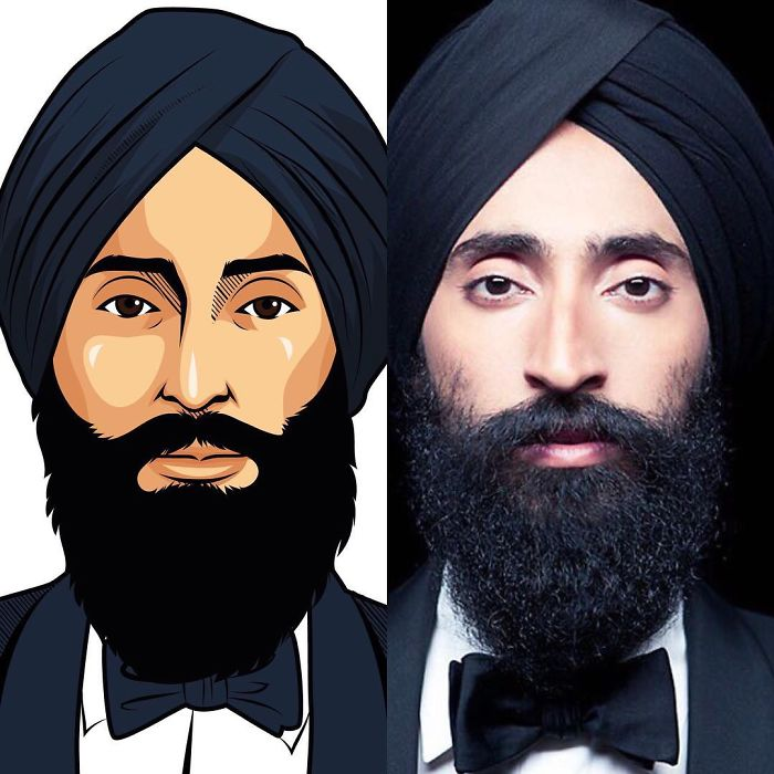 Artist Creates Stunning Illustrations Of His Sikh Friends