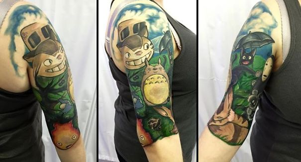 My Studio Ghibli Half Sleeve Tattoo