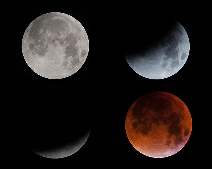 Super Blood Moon Transition.
