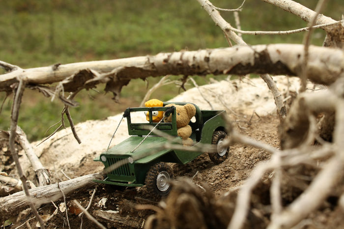 Xtreme Off-roading With A Miniature Jeep Willys