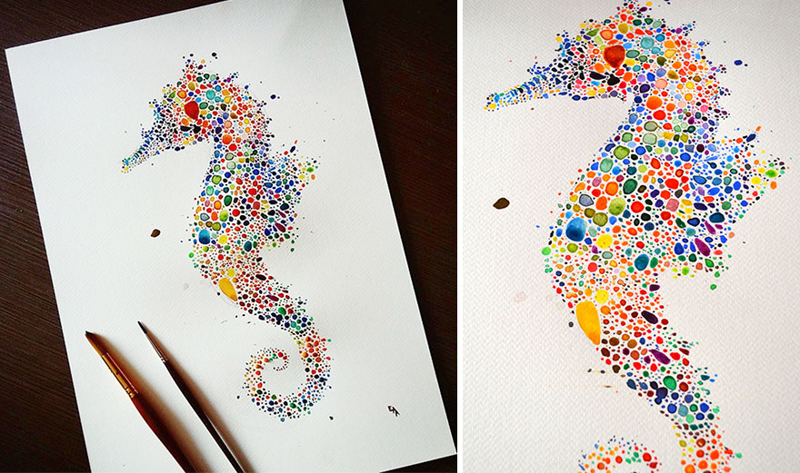 mysterious seahorse