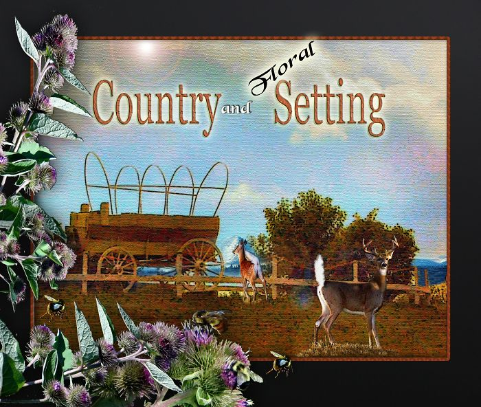 Country And Floral Setting