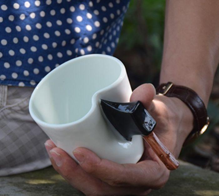 Creative Ceramic Hatchet Shaped Coffee Mug
