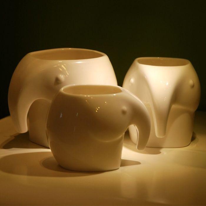 Creative Elephant Ceramic Set Cup