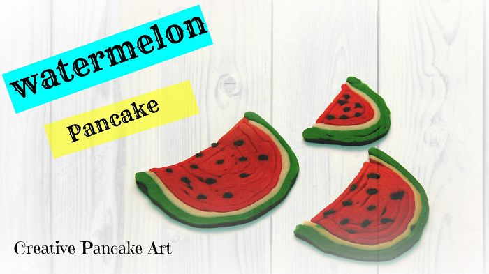Creative Pancake Art- Watermelon Pancakes