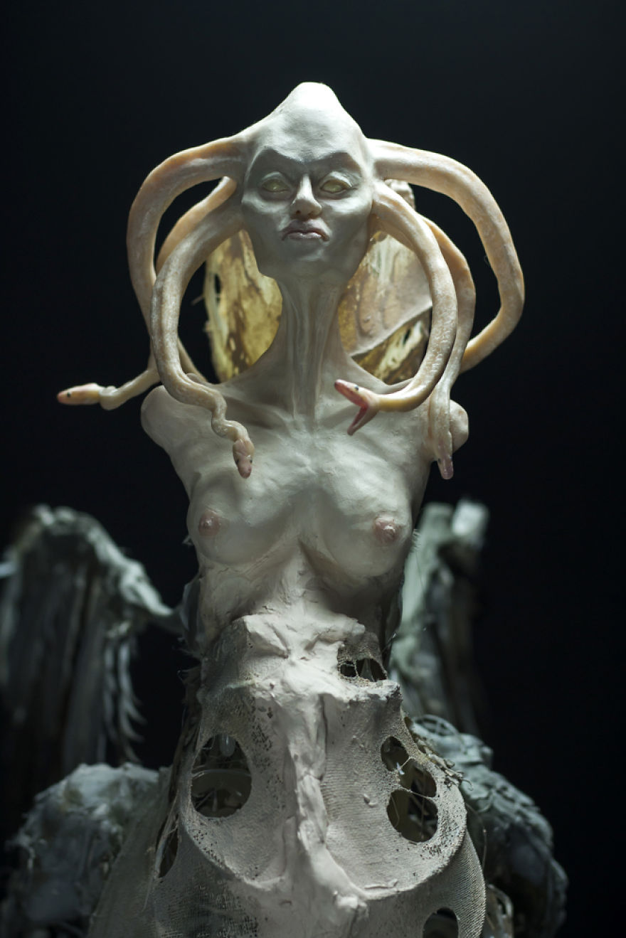 creatures from greek mythology come back to life in my sculptures