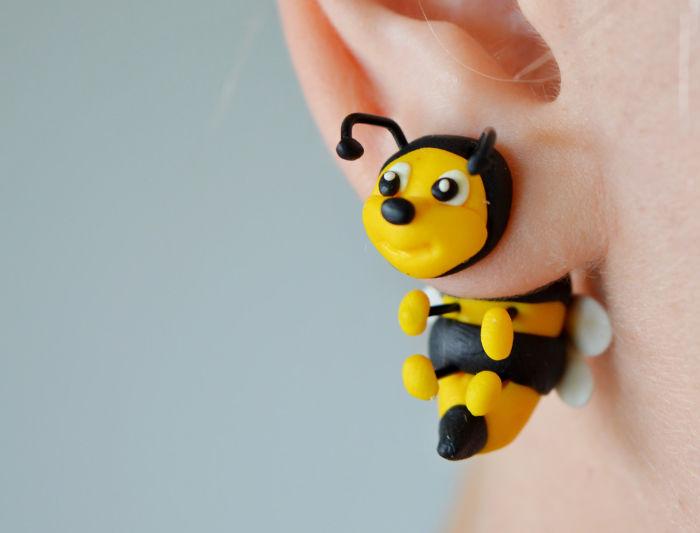 Artist Creates Cute Double-Sided Animal Earings