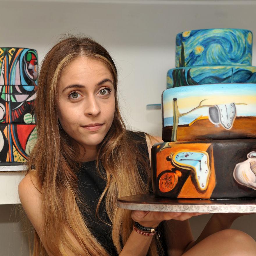 Famous Cake Artist : I Recreate Famous Paintings On Cakes Bored Panda