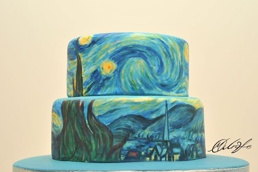 Local Cake Artist : I Recreate Famous Paintings On Cakes Bored Panda
