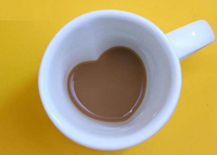 Copule Love Heart Ceramic Coffee Mug
