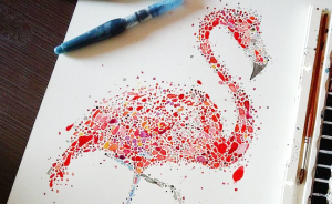 Dotted Animals That I Created From Hundreds Of Dots