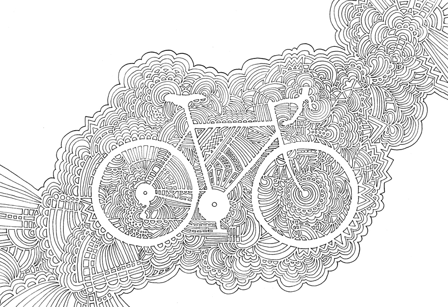 Best Bike App >> Drawing Meditations: I Never Know How My Drawings Will Turn Out   Bored Panda
