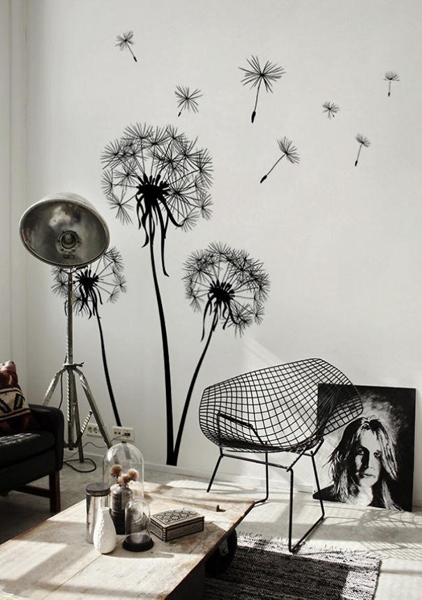 Gigantic Dandelions Growing From The Floor