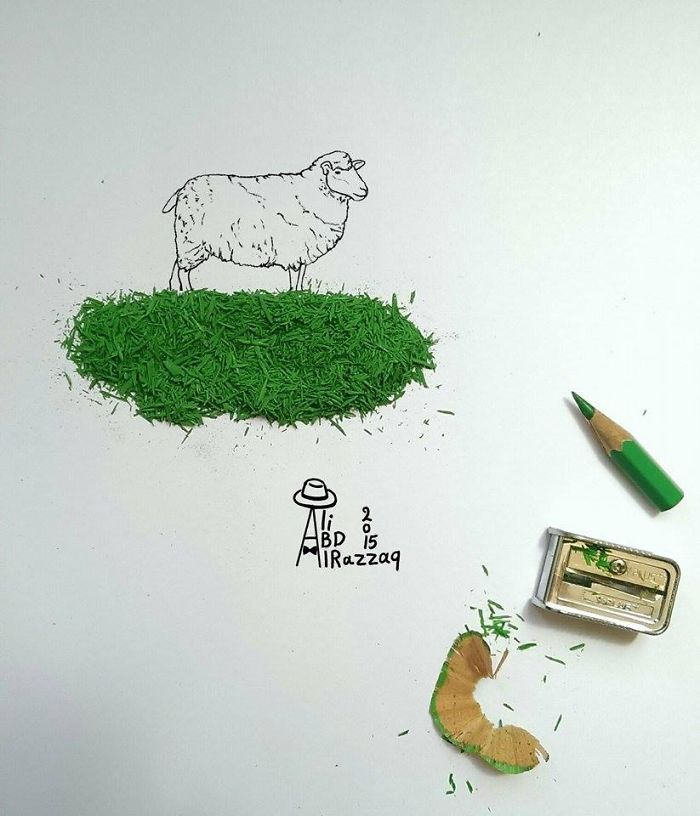 I Draw Interactive Illustrations Using Everyday Objects (part 3)