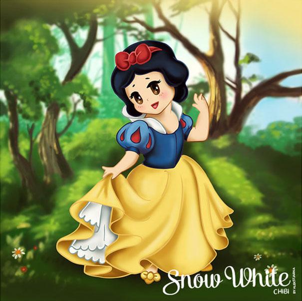 I Draw Cute Disney Princesses Chibi Style Bored Panda