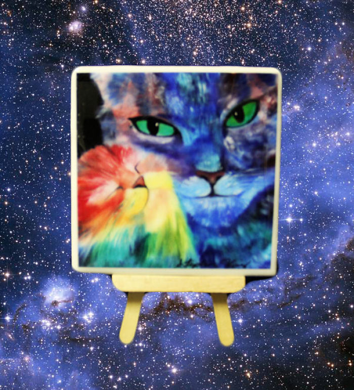 Space Cat Coaster