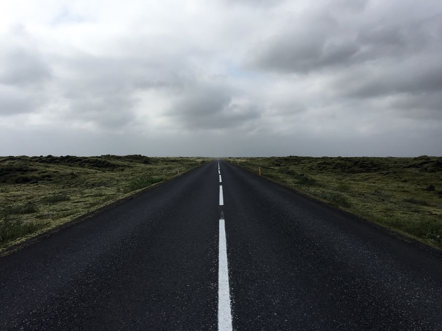 Driving Through Ring Road, Iceland