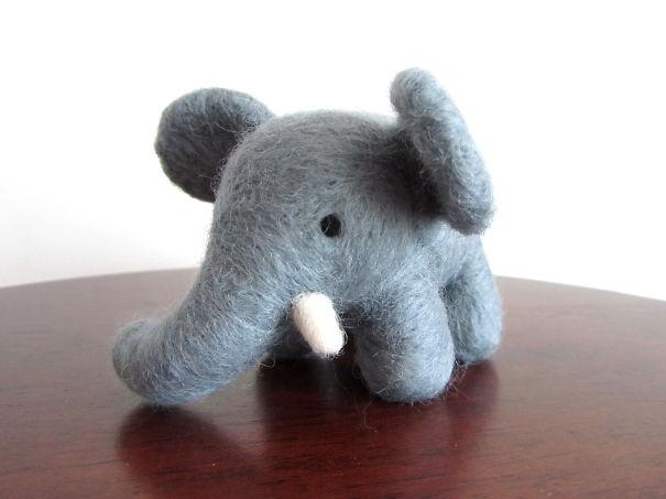 Mini Felt Elephant
