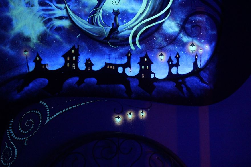 When The Lights Go Out My Bedroom Becomes A Fairytale