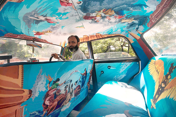 Designers Were Asked To Beautify Mumbai's Taxis, So I Turned It Into Sistine Chapel