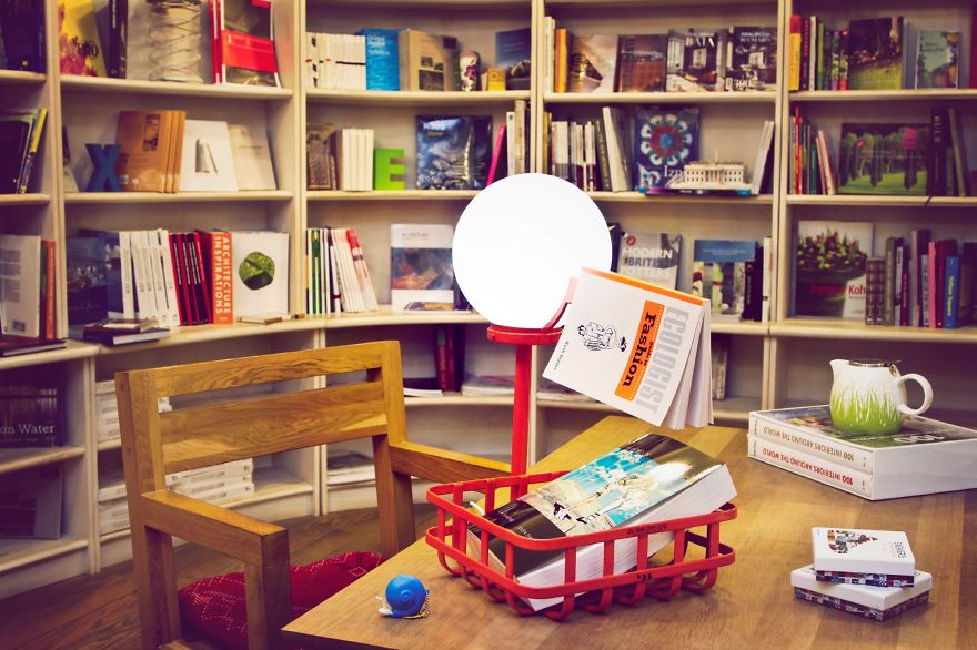 The Book Stork Lamp Takes Care Of Your Books