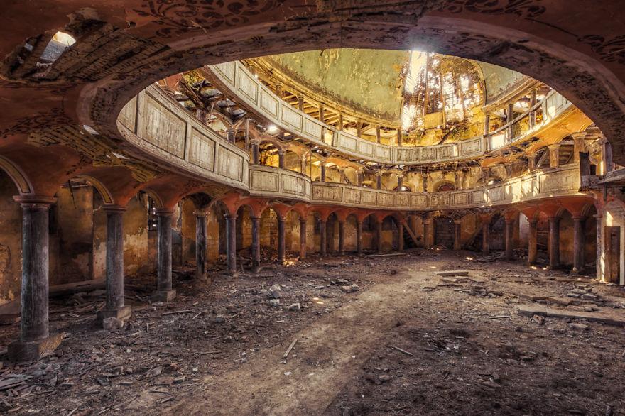 edificios abandonados arte
