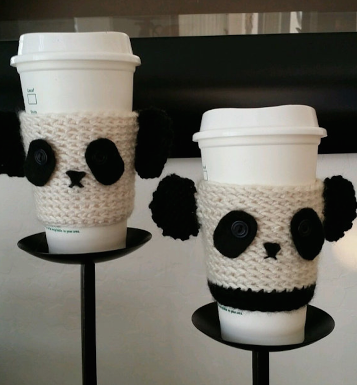 Panda Coffee Cup Cover