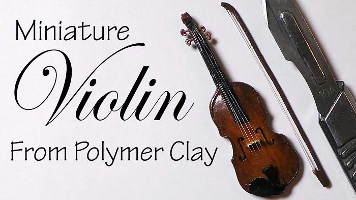 Miniature Violin (polymer Clay
