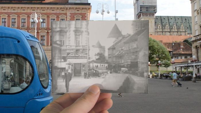 Video Where I Combined Historical Photos Of Zagreb With The Places Where They Were Taken Of
