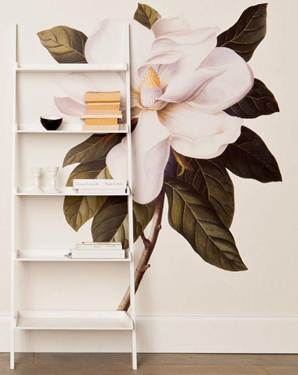 Beautiful Flower Wall Decal By Albertus Seba