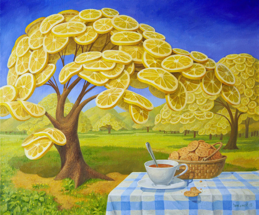 World Full Of Lemons By Surrealist Painter Vitaly Urzhumov ...