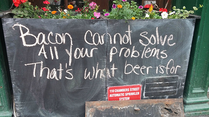 Awesome Sign Outside Of A Bar