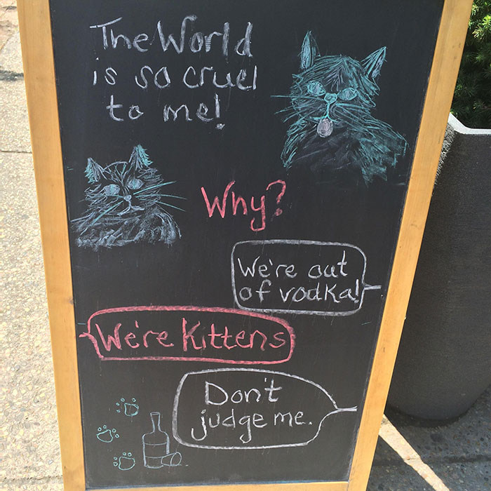 Saw This Sign Outside A Local Bar