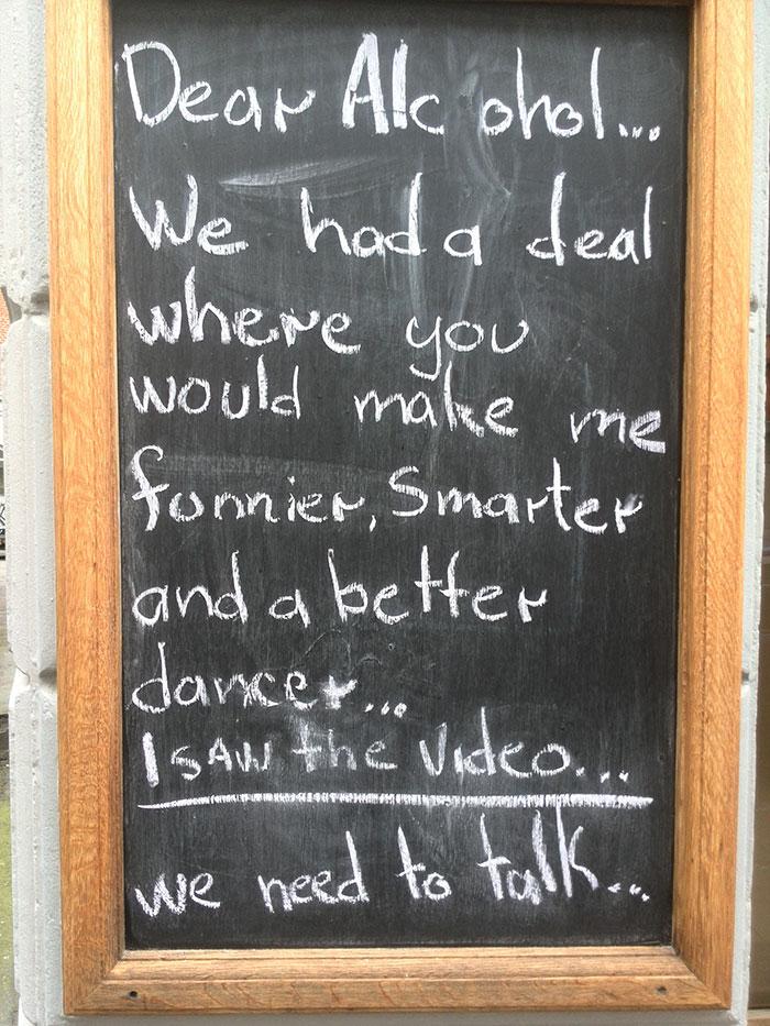 Just A Sign At A Bar