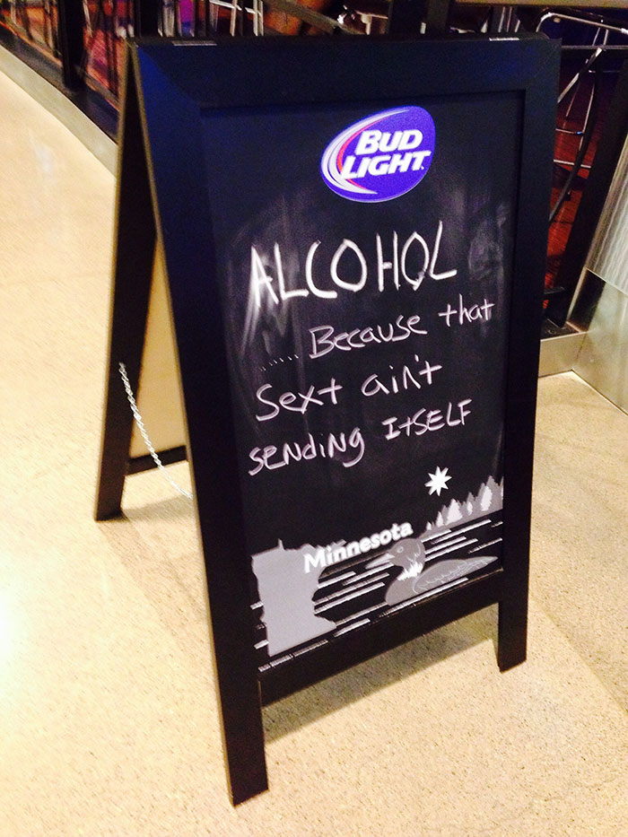 Sign At My Local Bar