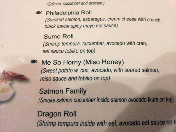 This Menu Is A Little Exciting